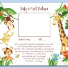 RAINFOREST JUNGLE MONKEY BABY ULTRASOUND POEM PRINT