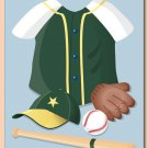 "11""x14"" WALL ART PRINT FOR BOYS/ SPORT BASEBALL UNIFORM"