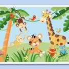 Kids Personalized *PLACEMAT* Jungle Rainforest Animals