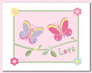 "LOVE BUTTERFLIES 8""x10"" BABY ULTRASOUND POEM PRINT"