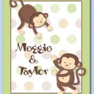 "11""x14"" PERSONALIZED ART PRINT KIDS MONKEY POP MONKEYS"