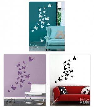 Flying Butterflies Set of 16 - Vinyl Wall Decal Art