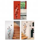Japanese Cherry Blossom & Butterflies Vinyl Wall Decal