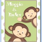 "KIDS MONKEY POP MONKEYS 11""x14"" PERSONALIZED ART PRINT"