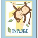 SET OF 3 JUNGLE MONKEY BUSINESS DECOR WALL ART PRINTS
