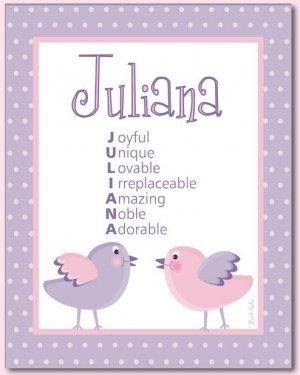 "LOVE BIRDS & FLOWERS BABY ULTRASOUND POEM PRINT 8""x10"""