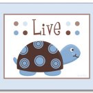Set of 3 Nursery Wall Art Prints Mod Turtle Turtles