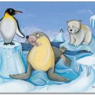 "11""x14"" ART PRINT FOR KIDS /  POLAR ANTARCTICA ANIMALS"