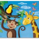 "11""x14"" ART PRINT NURSERY KID'S ROOMS /  JUNGLE ANIMALS"