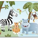 "11""x14"" ART PRINT FOR KIDS / SAFARI JUNGLE ANIMALS"