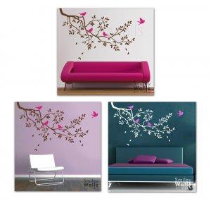 Branch and Birds - GIFT BIRDS - Vinyl Wall Art Decal