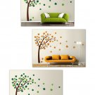Tree with Leaves Blowing in the Wind - Vinyl Wall Decal