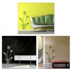 Dandelion Wishes - Vinyl Wall Decal Smileywalls Design