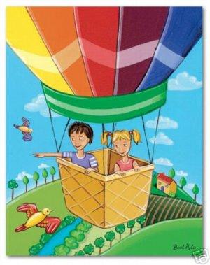 "11""x14"" ART PRINT FOR KIDS ROOM /  BALLOON ADVENTURE"