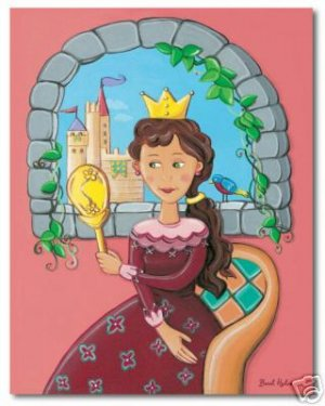 "11""x14"" ART PRINT FOR CHILDREN'S ROOMS / PRINCESS"