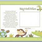 "PAPAGAYO JUNGLE  8""x10"" BABY ULTRASOUND POEM PRINT"