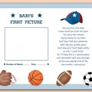 "SPORTS BASEBALL FOOTBALL 8""X10"" BABY ULTRASOUND PRINT"