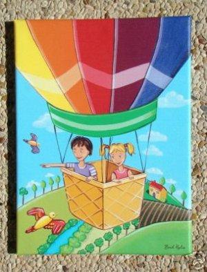 CANVAS ART PRINT FOR CHILDREN ROOM / BALLOON ADVENTURE