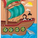 "11""x14"" ART PRINT NURSERY KID'S ROOMS /  PIRATE SHIP"
