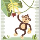 "11""x14"" ART PRINT FOR KIDS JUNGLE ANIMALS /  MONKEY"