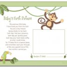 "JUNGLE MONKEY  8""x10"" BABY ULTRASOUND POEM PRINT"