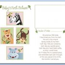 "SAFARI ANIMALS  8""x10"" BABY ULTRASOUND POEM PRINT"