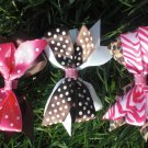 PINK AND BROWN COM'BOW'