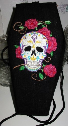 Embroidered Coffin Purse