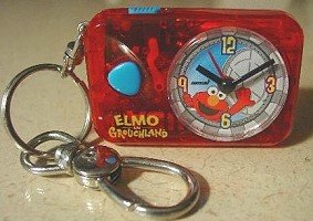 Elmo Sesame Street Keychain Clock with Light and Alarm