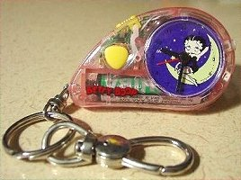 Betty Boop Keychain Clock with Light and Alarm