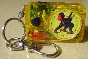 Curious George Keychain Clock with Light and Alarm