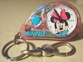 Disney Minnie Mouse Keychain Clock with Light and Alarm