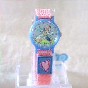 Disney Minnie Mouse and Daisy Duck Girls Pink Jewelry Watch Wristwatch MU0091