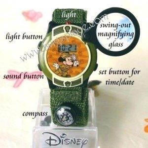 Disney Mickey Mouse Safari Adventure Watch Animal Sounds MU0034