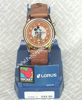 Disney Mickey Mouse Lorus Lite Watch Jewelry Wristwatch Retired RZA006-2