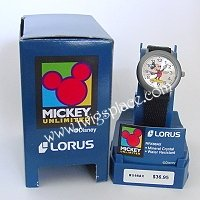 Disney Lorus Time Telling Mickey Mouse Watch Wristwatch Jewelry Gray Retired Item RX66AX
