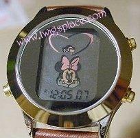 Disney Minnie Mouse Watch with Alarm Animated Funamation Wristwatch Jewelry MU0378