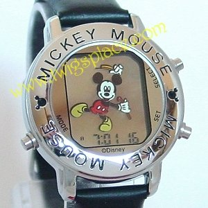 Disney Mickey Mouse Jewelry Watch Musical Alarm Animated Dancing RAT001S