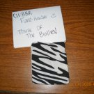 Small Handmade Zebra Cotton Phone Bag