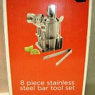 8 piece stainless stell bar tool set