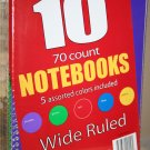 Pack of 10 Wide Ruled Spiral notebooks