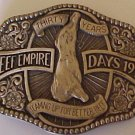 Beef Empire Days 30 Years Belt Buckle