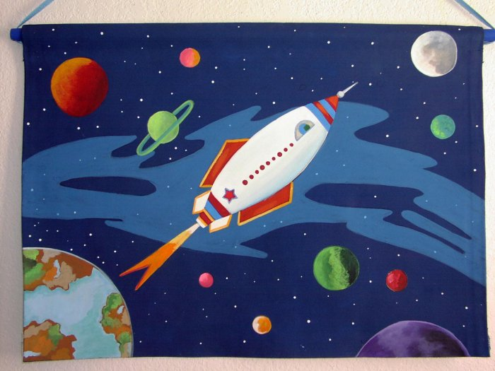 Rocket Ship Wall Hanging