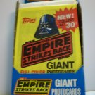 STAR WARS  1980 UNOPENED GIANT PHOTO CARD PACK