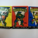 TEENAGE MUTANT NINJA TURTLES 1989-90 UNOPENED 3 PACK
