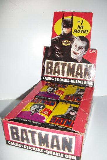 BATMAN 1989 UNOPENED TRADING CARD PACK