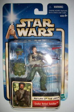 STAR WARS AOTC ENDOR REBEL TROOPER Action Figure