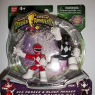 "POWER RANGERS ""SQUISHIE"" RED/BLACK RANGERS Figures"