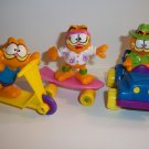 McDONALD's 1989 GARFIELD 3 piece lot