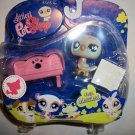 "LITTLEST PET SHOP 2008 ""MESSY"" BIRD and BENCH set"